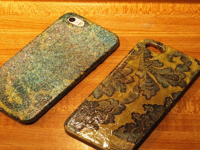 DIY Simple Decoupage Cell Phone Smartphone case