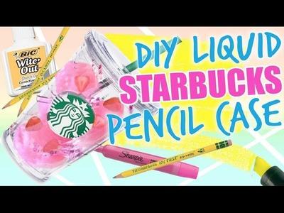 DIY STARBUCKS LIQUID PENCIL CASE. DIY THE PINK DRINK PENCIL CASE