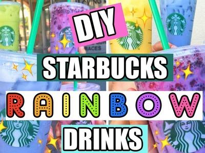 DiY STARBUCKS RAiNBOW DRiNKS!!!- XOBRUNETTEBARBIE❤