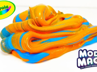 DIY: SUPER PUTTY CREATION! Mixing Borax Slime with Crayola Magic Modelling Clay! Super Smooth!