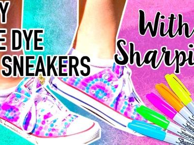 DIY Tie Dye Shoes with Sharpies!! | Kristi Tu