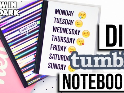 DIY Tumblr Notebooks for Back to School! + Giveaway! 2016