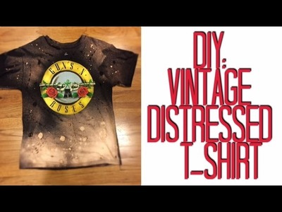 DIY: Vintage Distressed T-Shirt | Easy Tutorial