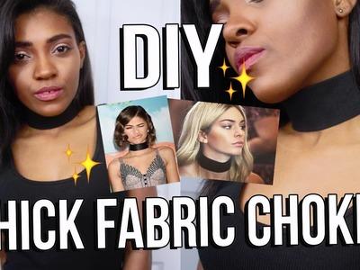 DIY: WIDE THICK BLACK FABRIC CHOKER
