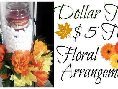 Dollar Tree $5 DIY Fall Floral Arrangement