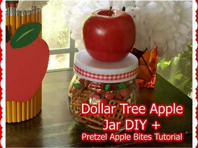 DOLLAR TREE DIY + Apple Pretzel Bites | Back To School Series 2