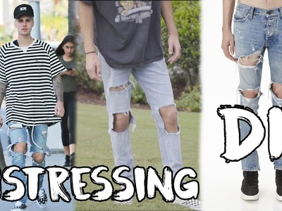 FEAR OF GOD INDIGO JEANS DIY | How To Distress Denim