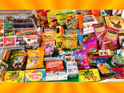 Harry Potter, Toxic Waste, DIY Candy Survivor Box, & More Candy!  New Toy Collector Family!