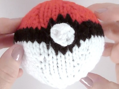 How to Knit a POKÉBALL | Pokémon Go DIY