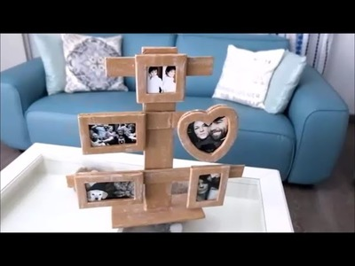 How To Make a Cardboard Photo Frame - Home DIY