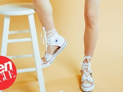 How to Make DIY Converse Espadrilles | Teen Vogue