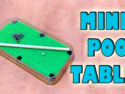How To Make Mini Pool Table Set! |DIY| 2016