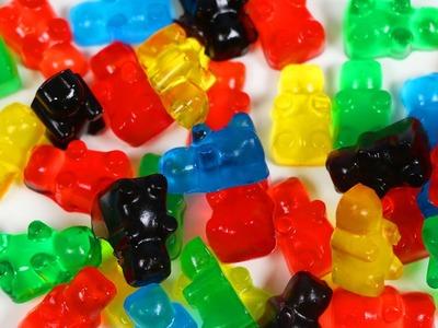 How to Make Rainbow Jelly Gummy Bears! DIY Fruit Snacks