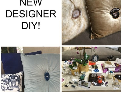 NEW !!!  Designer DIY:  Agate Stone Decorative Pillows