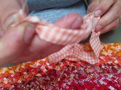 No Sew DIY Rag Rug Tutorial