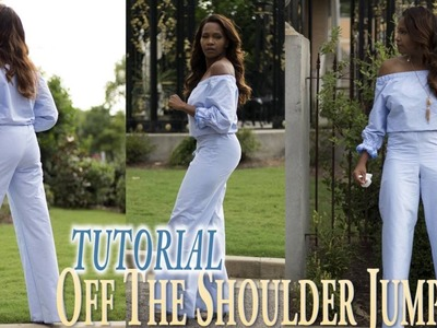 Off The Shoulder Jumpsuit Tutorial  - DIY