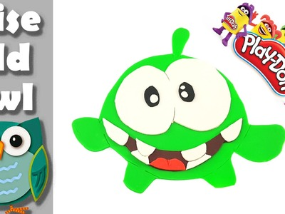 Om Nom Play Doh cartoon characters DIY how to make favorite friends