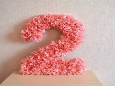 Paper Flowers Birthday Number DIY
