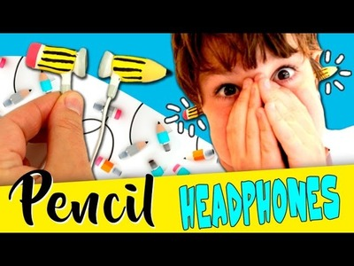PENCIL Headphones * DIY headphones decorated with PENCIL TRHOUGH HEAD