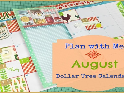 Plan with me in my DIY Dollar Tree Planner - August
