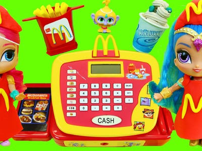 Shimmer & Shine McDonalds Cash Register DIY Play Doh Food French Fries Happy Meal Magic Toy Makeover