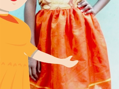 Simple Frock With Net Cutting And Stitching | DIY - Tailoring With Usha