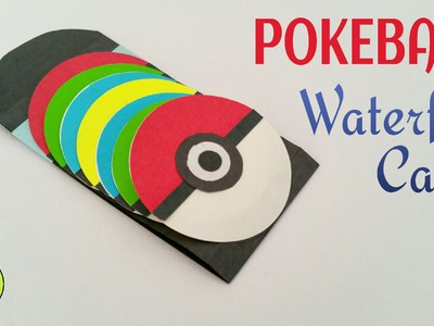 "Tutorial to make ""Pokeball Waterfall Card"" Pokemon Go - DIY 