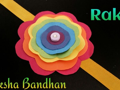"Tutorial to make ""Rainbow Flower Rakhi Bracelet for Raksha Bandhan"" 