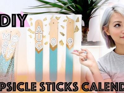 $1 DIY: Cute Decorative Popsicle Sticks Calendar