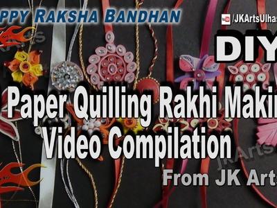 20 Paper Quilling Rakhi Making  Videos Compilation | DIY How to make Rakhi | JK Arts  1037