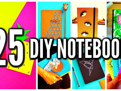 25 DIY Notebooks: DIY School Supplies & Projects! Back To School 2016-2017