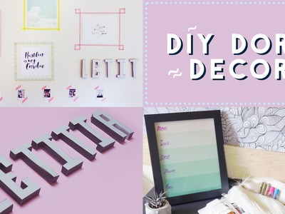 ✂ 3 DIY Back to School Dorm Decor Hacks - WithWendy Collab