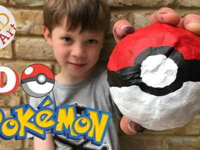 3D Poke Ball DIY - Pokemon Go - Collab wit Carly Toffle