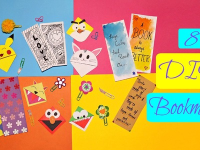8 Cute DIY Bookmarks - Back to School
