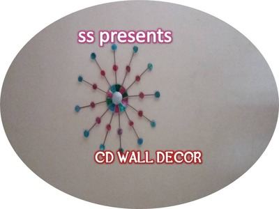 Best out of the waste Recycled cd wall decor & diy room decoration idea