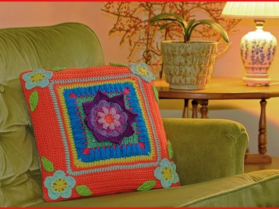 Blooming Daydreams Throw Pillow Crochet Tutorial