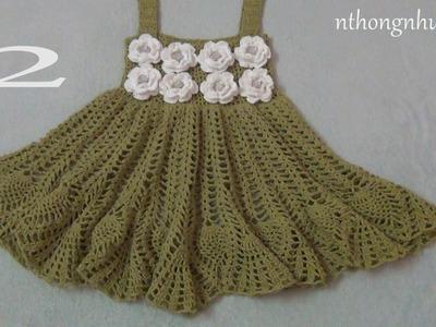 Crochet a baby dress - Pattern 5 (2.2) (engsub)