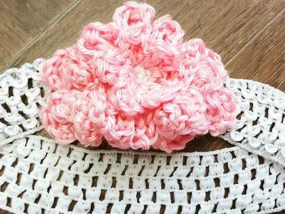 Crochet Flower embellished headband