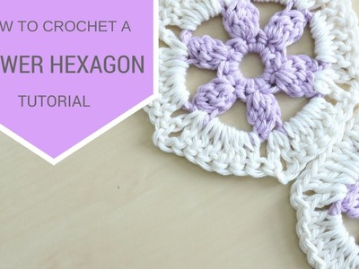 CROCHET: How to crochet a Flower Hexagon | Bella Coco