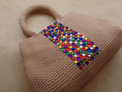 CROCHET How To #Crochet Easy Handbag Purse with Nylon Thread #TUTORIAL #324