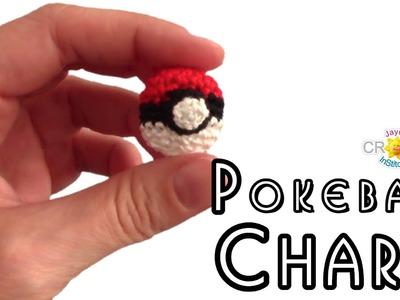 Crochet Pokeball Phone Charm - Pokemon Go Keychain