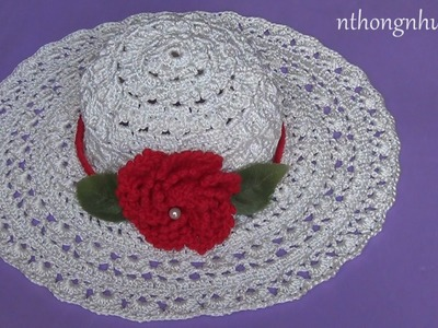 Crochet summer hat tutorial - Pattern 2 (engsub)
