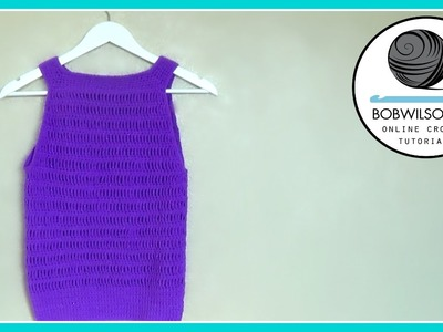 Crochet Summer tank top tutorial