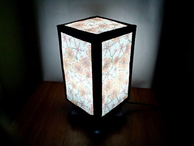 DIY# 45 Lampshade 2 in 1 Made Of Recycled Box