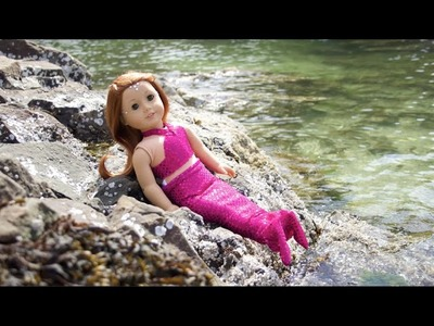 DIY American Girl doll MERMAID costume!!!