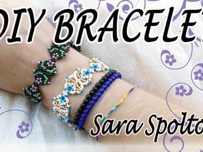 DIY bead bracelet for beginners - How to make a super easy wish bracelet