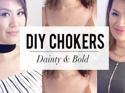 DIY Choker - Dainty & Bold Styles    ANN LE
