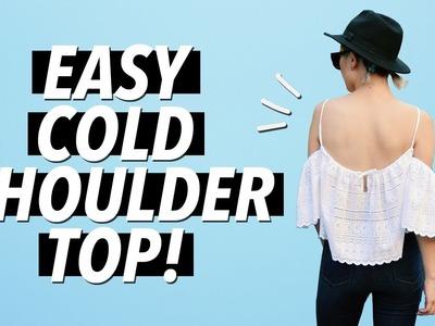 DIY Cold Shoulder. Off the Shoulder Top (Easy!)