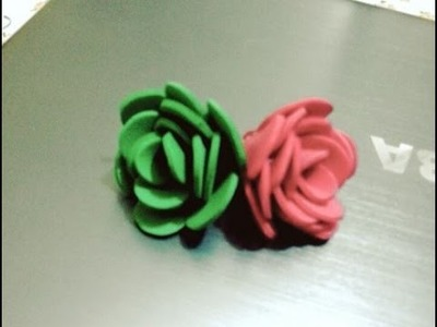 DIY - Crafts : How to make a Foam Flower + Tutorial .