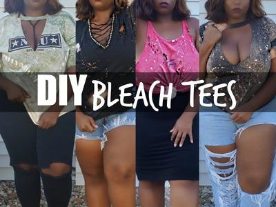 DIY Distressed Bleach T-shirts   Fashion